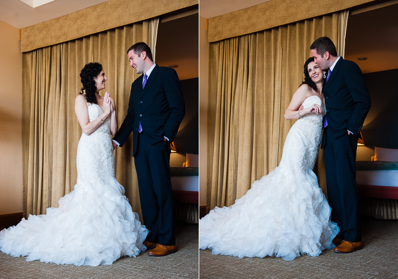 Asheville wedding first look