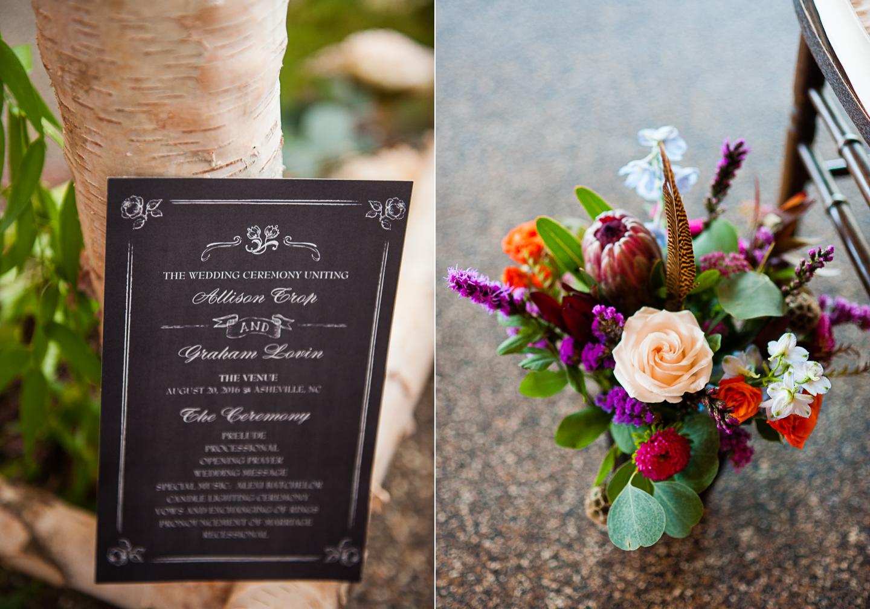 gorgeous asheville wedding details