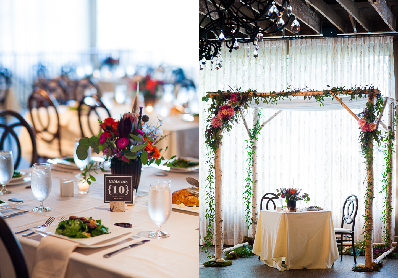 gorgeous asheville wedding reception at The Venue
