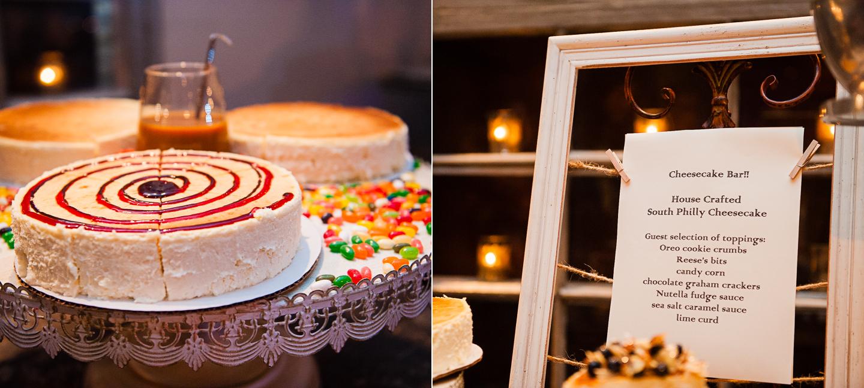 cheesecake bar for wedding dessert table