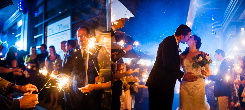 The Venue sparkler exit photo in asheville