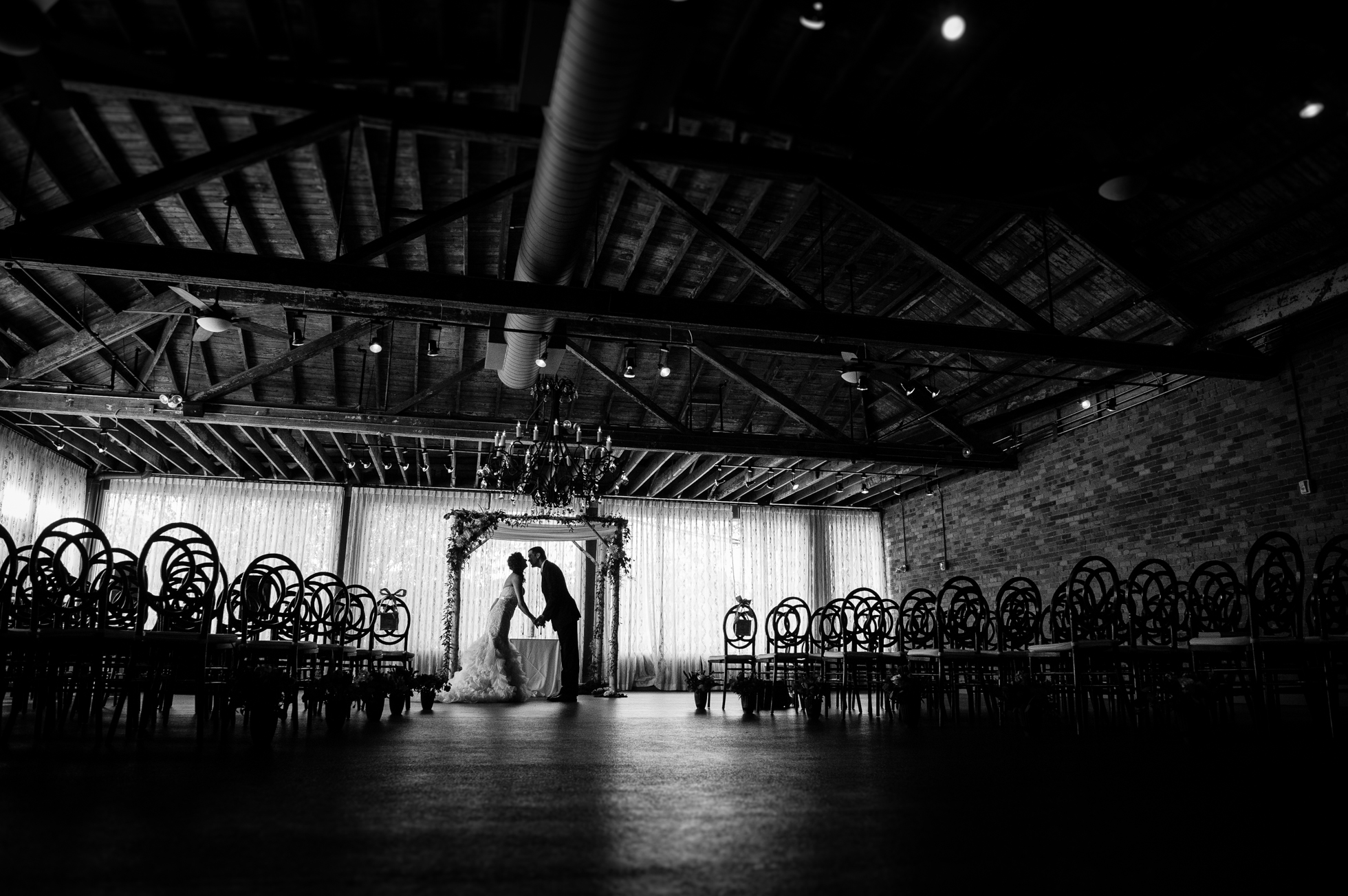 beautiful ceremony set up at the venue asheville
