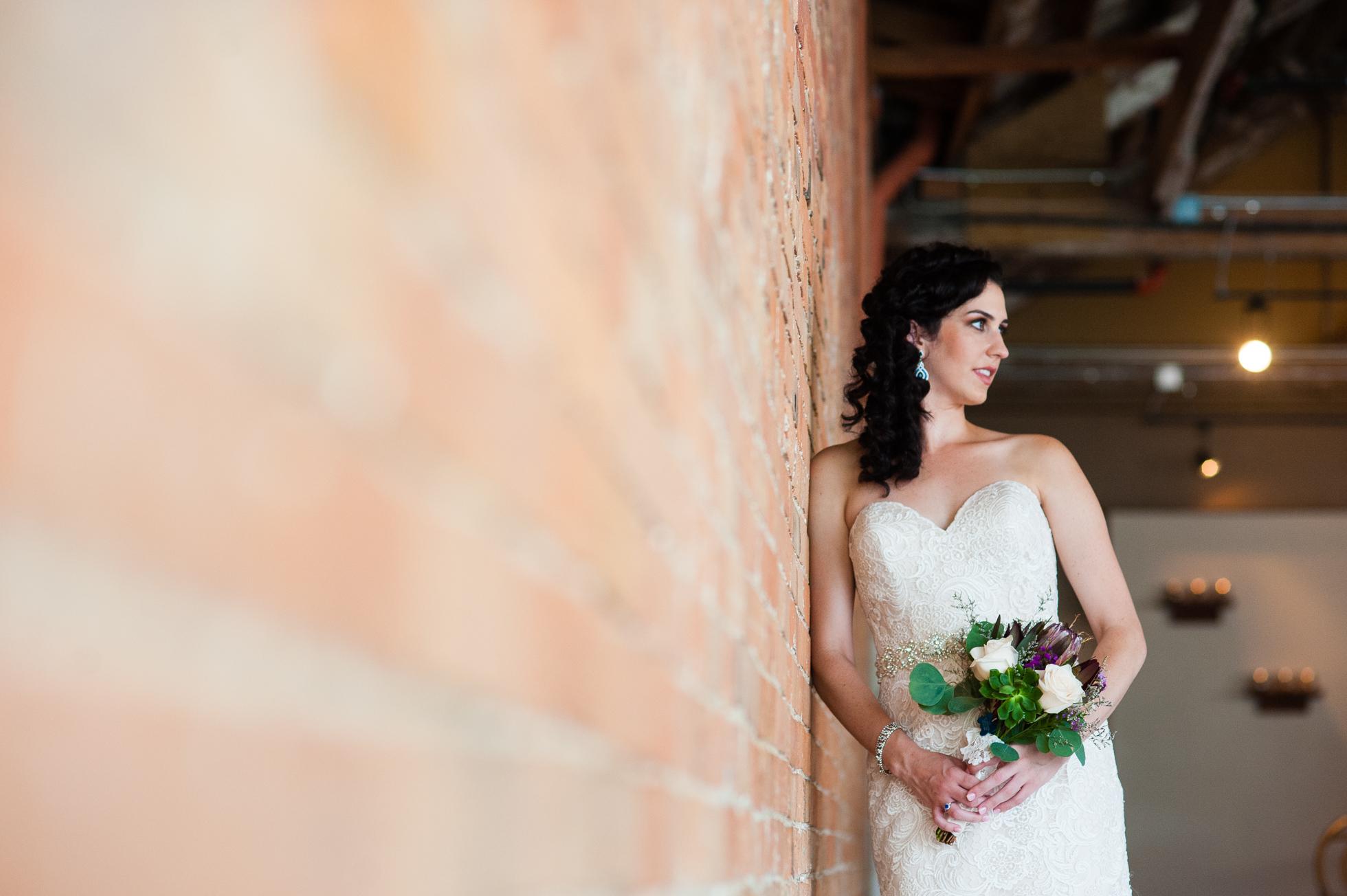gorgeous asheville bridal portrait at The Venue