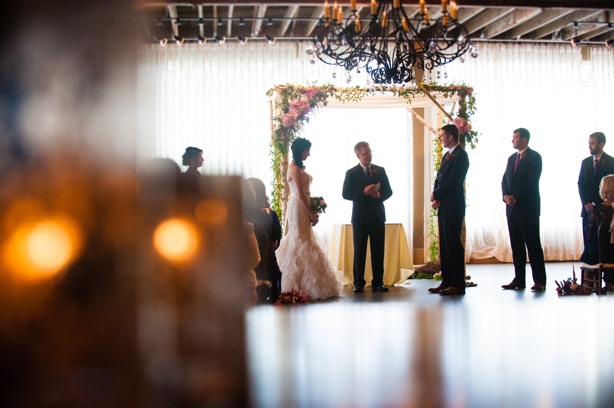 gorgeous asheville wedding ceremony at the venue