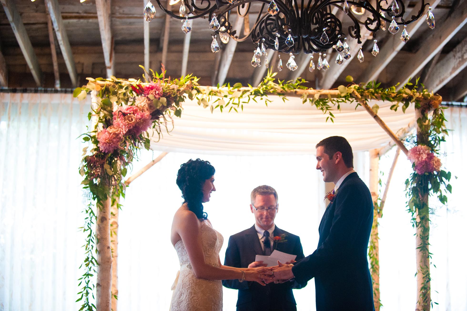 beautiful asheville wedding ceremony