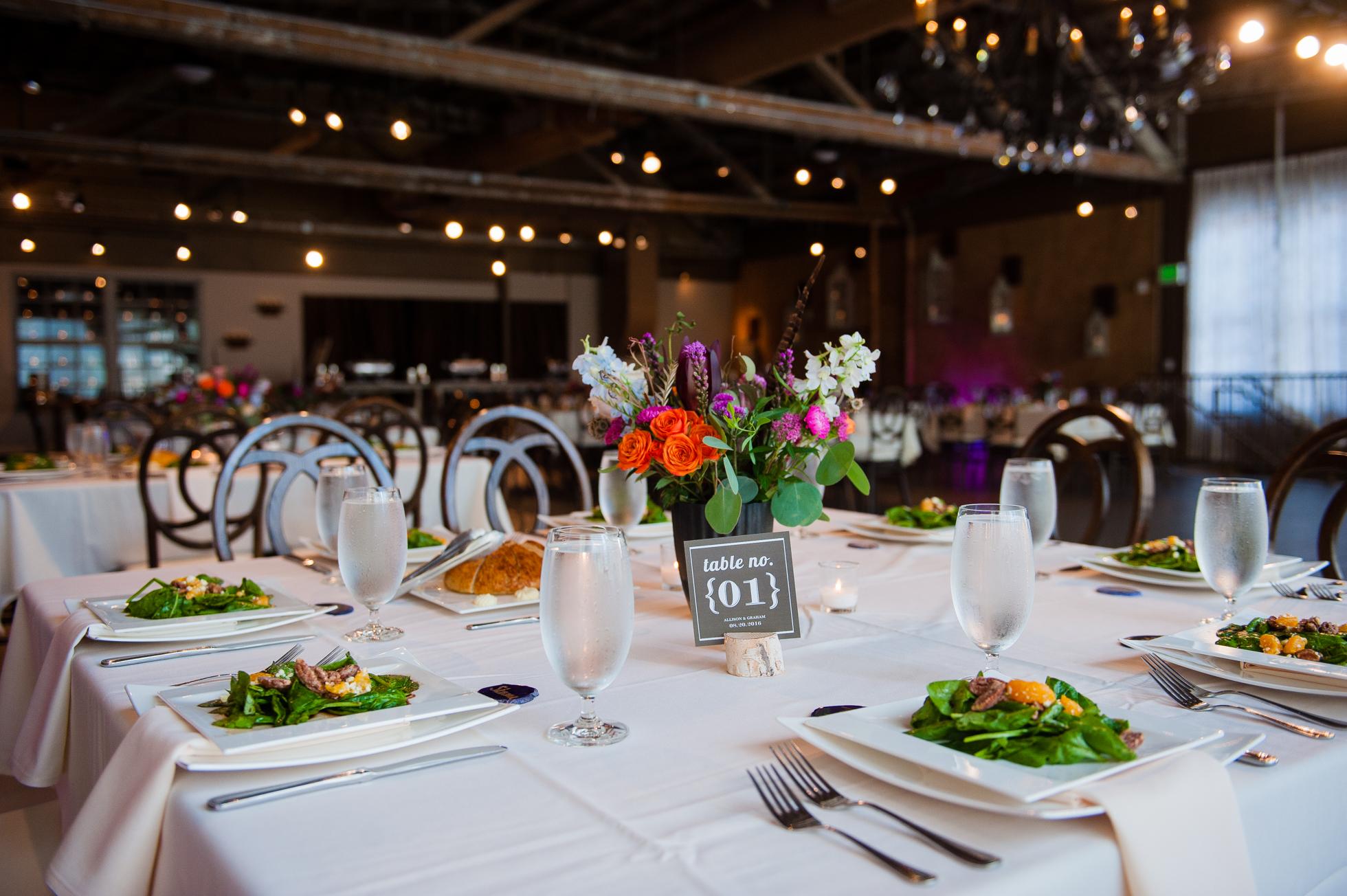 the venue asheville wedding reception
