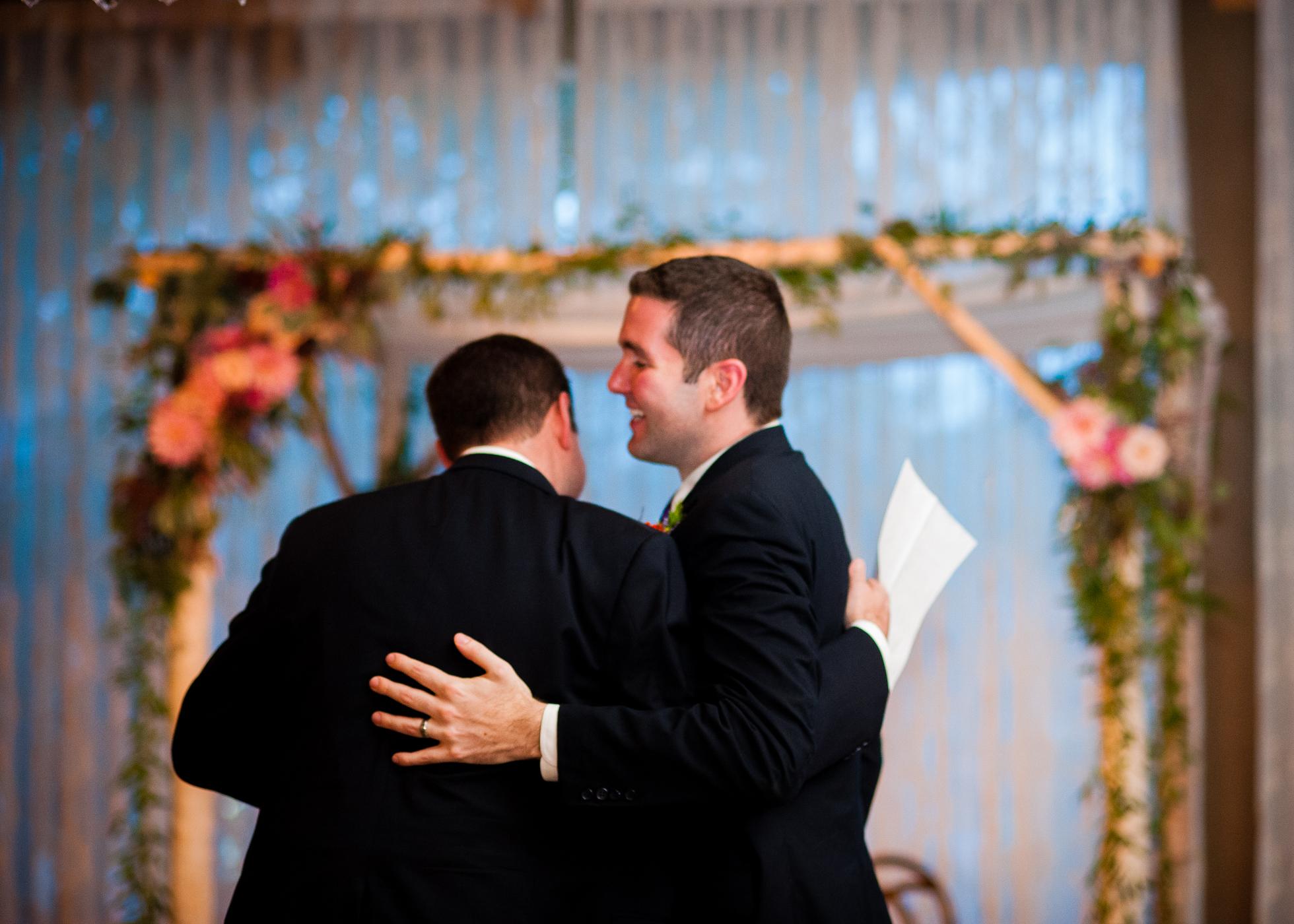 wedding toasts during asheville wedding ceremony
