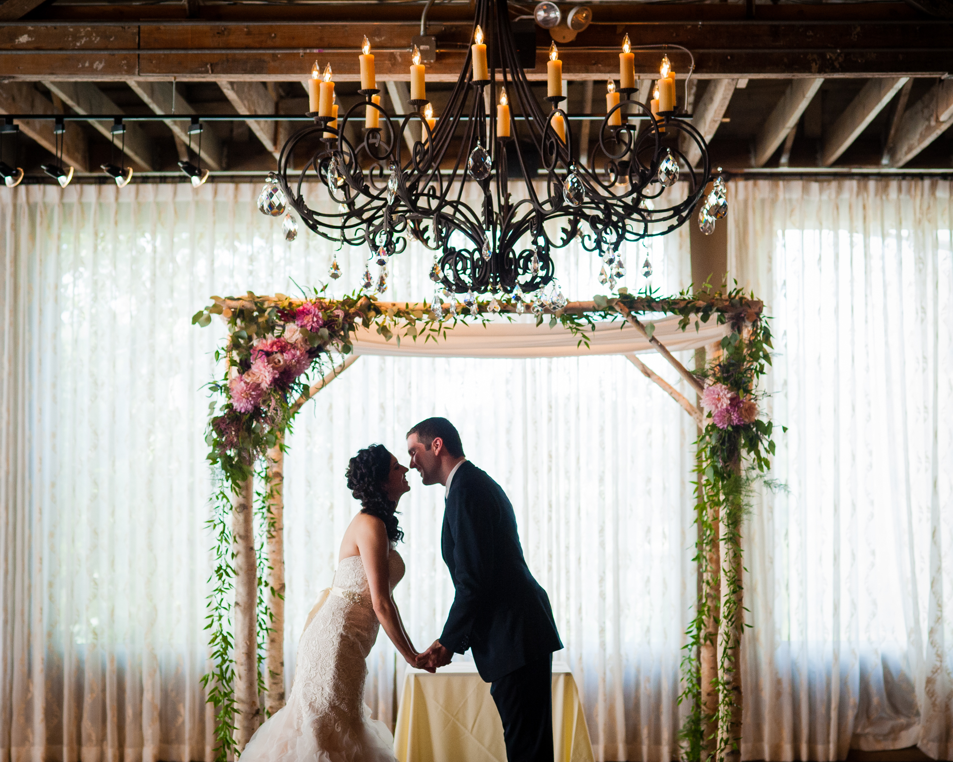 the venue asheville wedding portrait