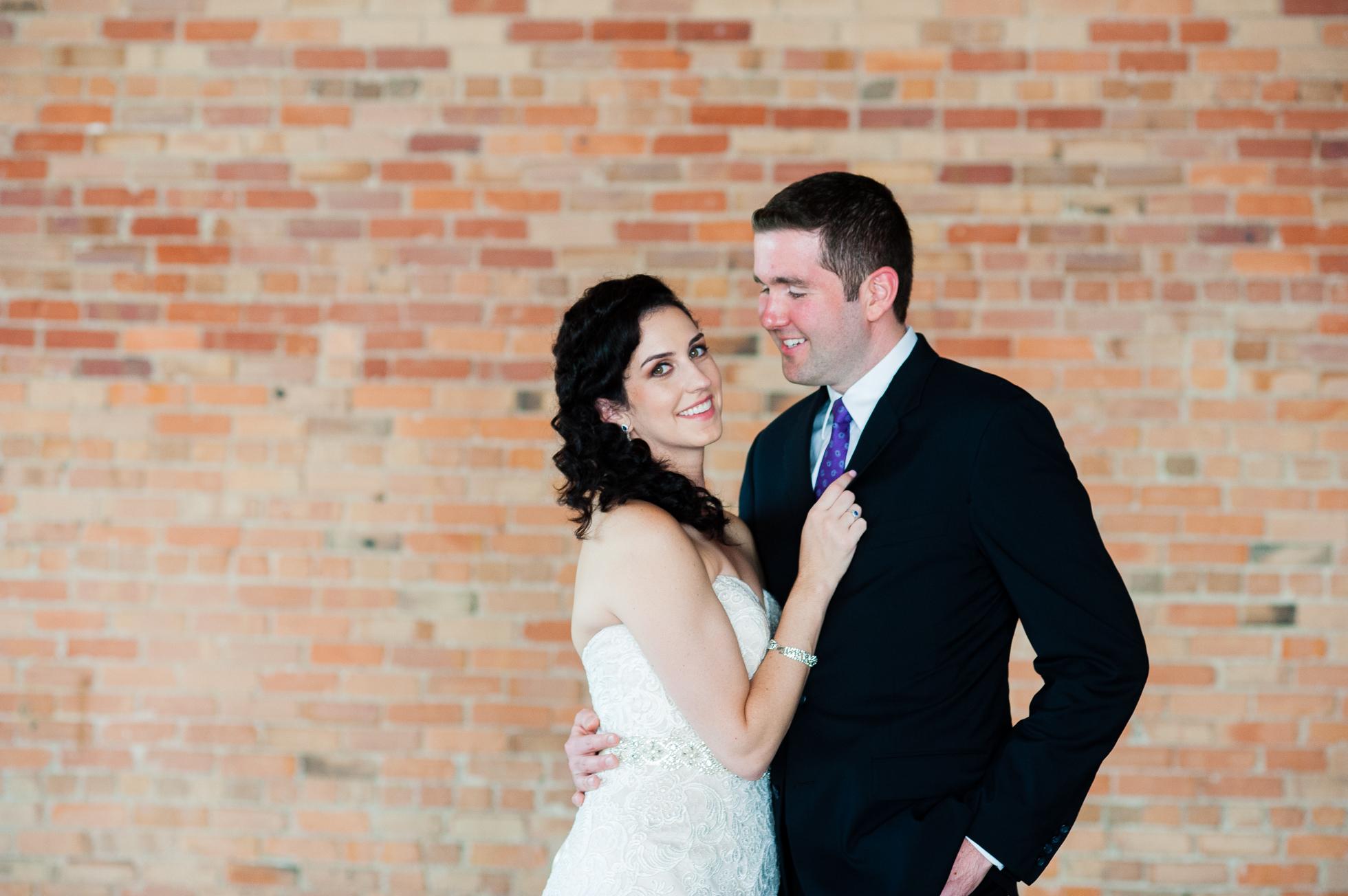 bride and groom portrait at The Venue Asheville