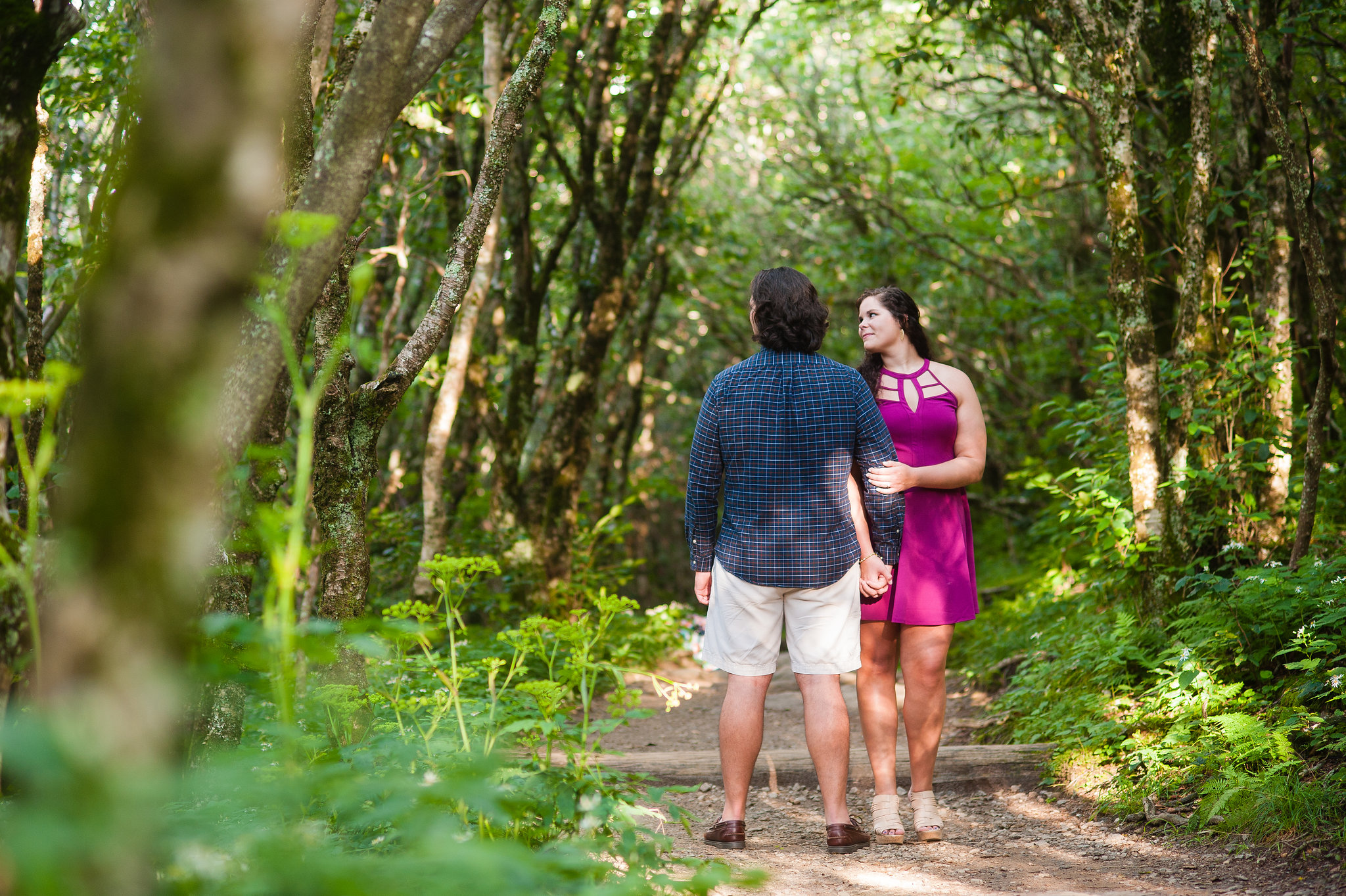 craggy garden engagement session