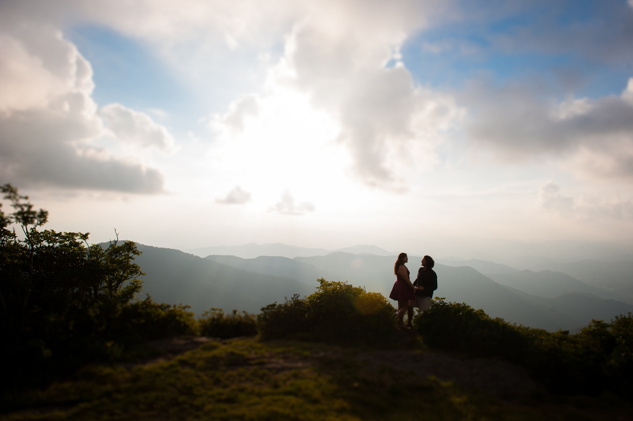 asheville engagement photo at craggy gardens