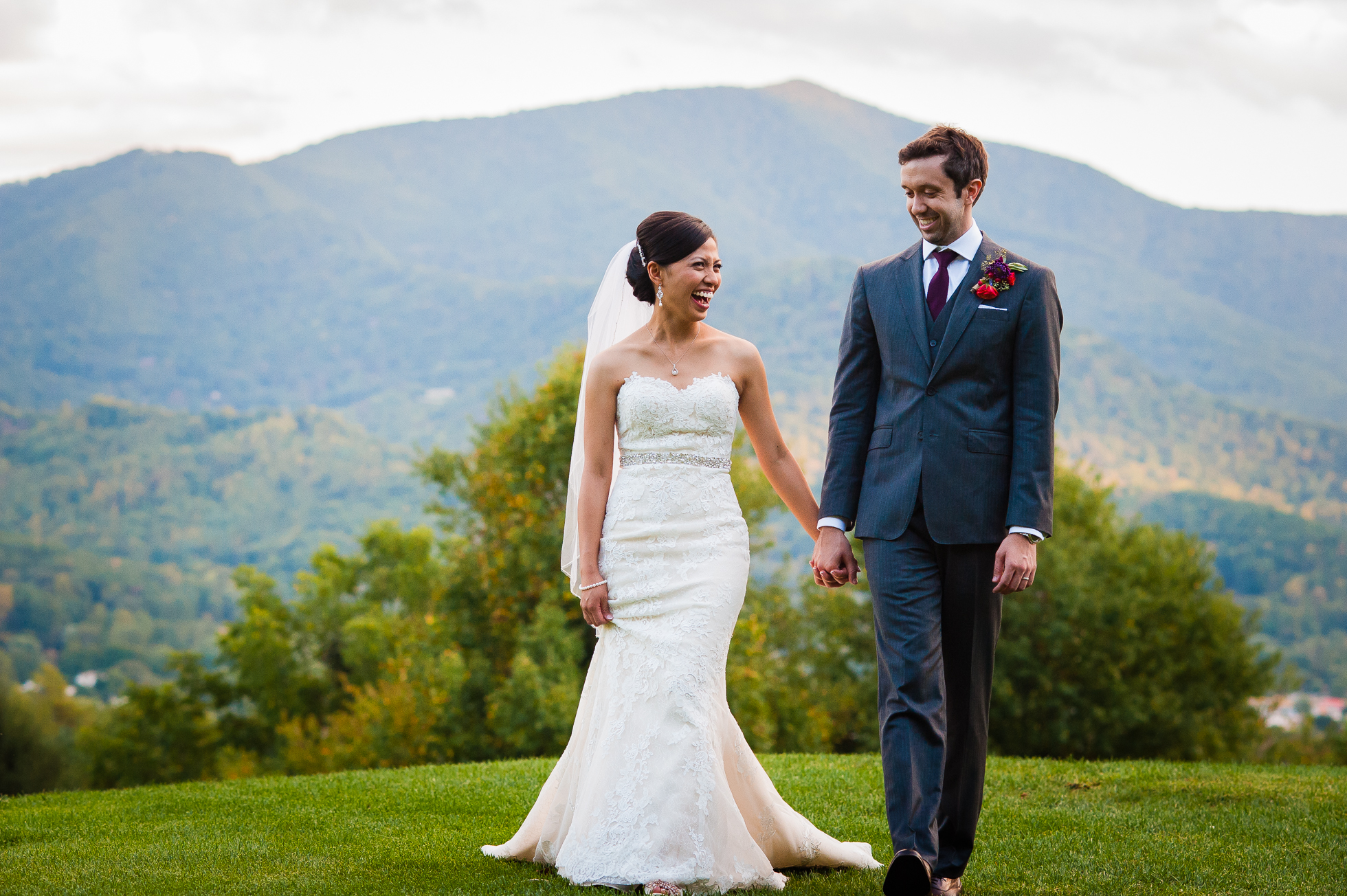 asheville mountain wedding photo