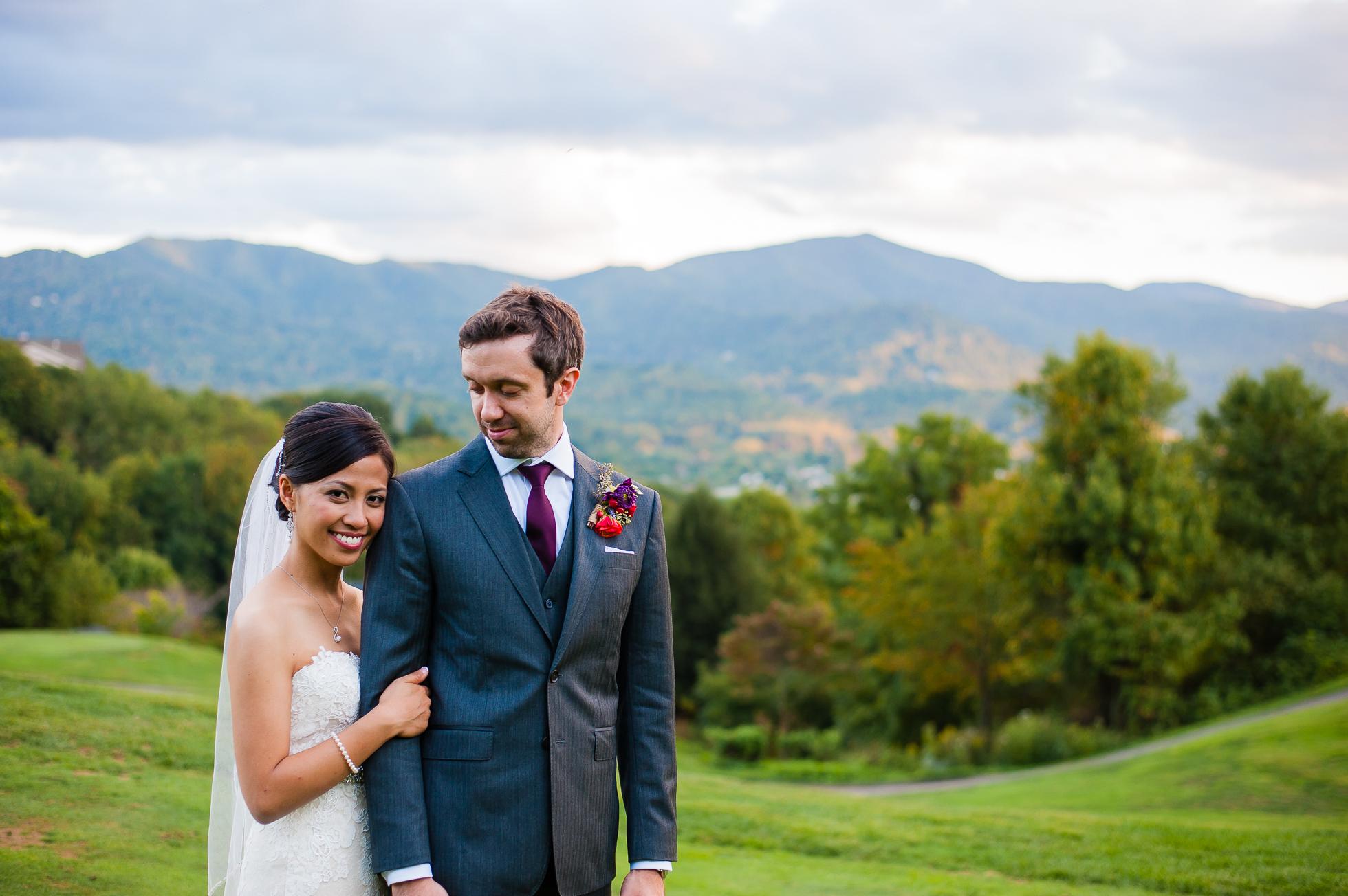 asheville wedding couples portraits