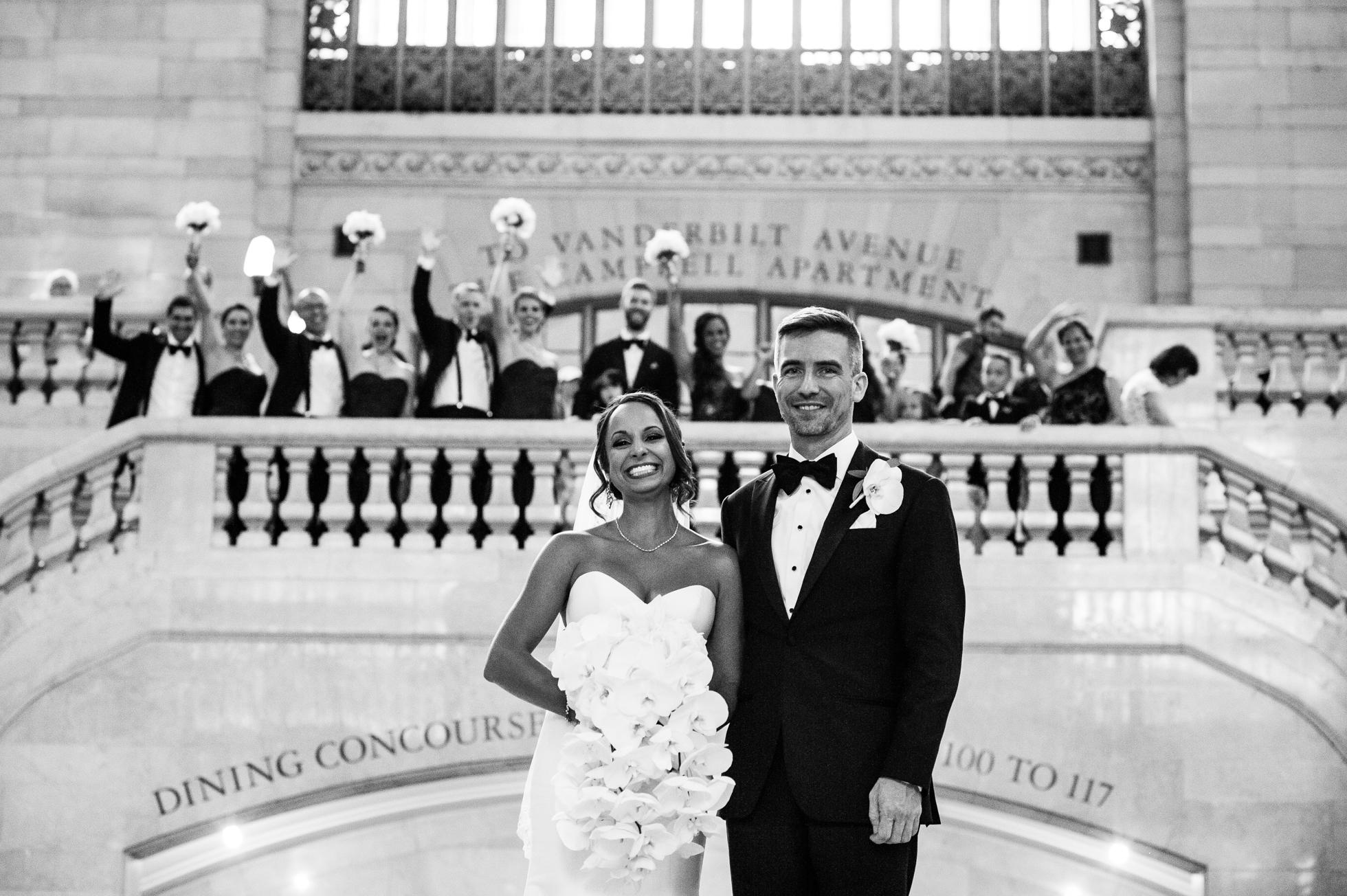 Grand Central Station wedding portraits