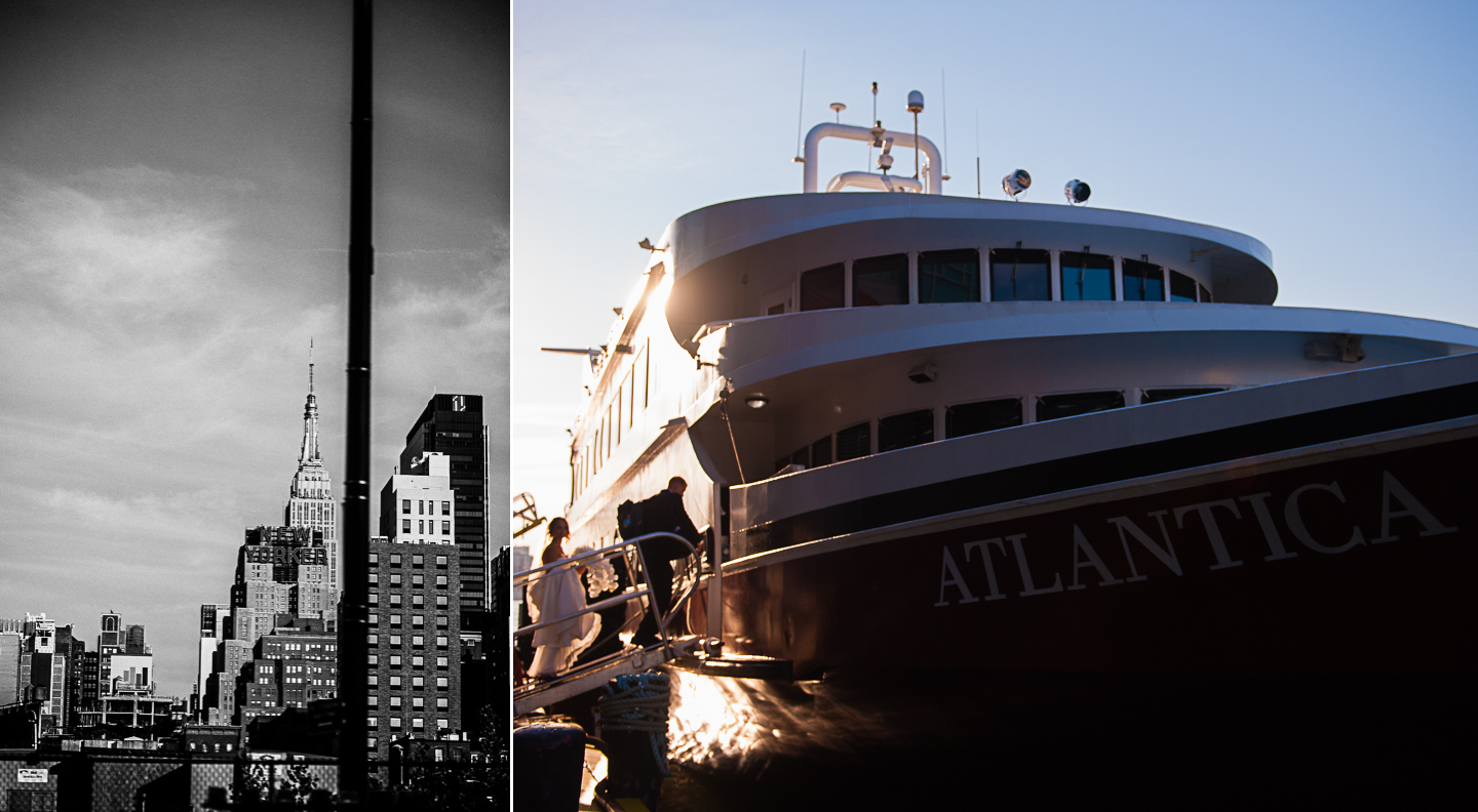 A Luxury Yacht Wedding in NYC on the Atlantica