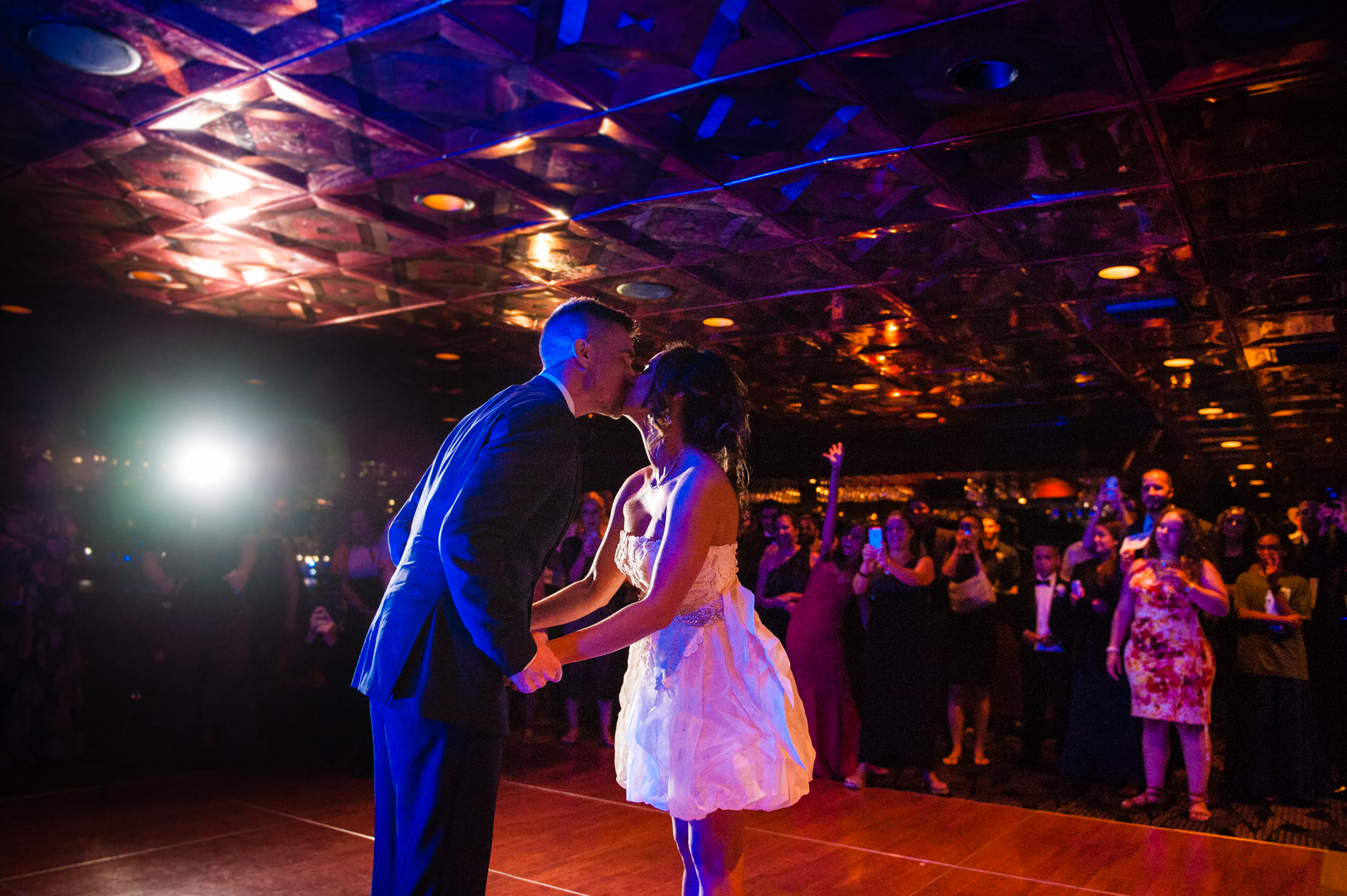 A Luxury Yacht Wedding reception in NYC on the Atlantica
