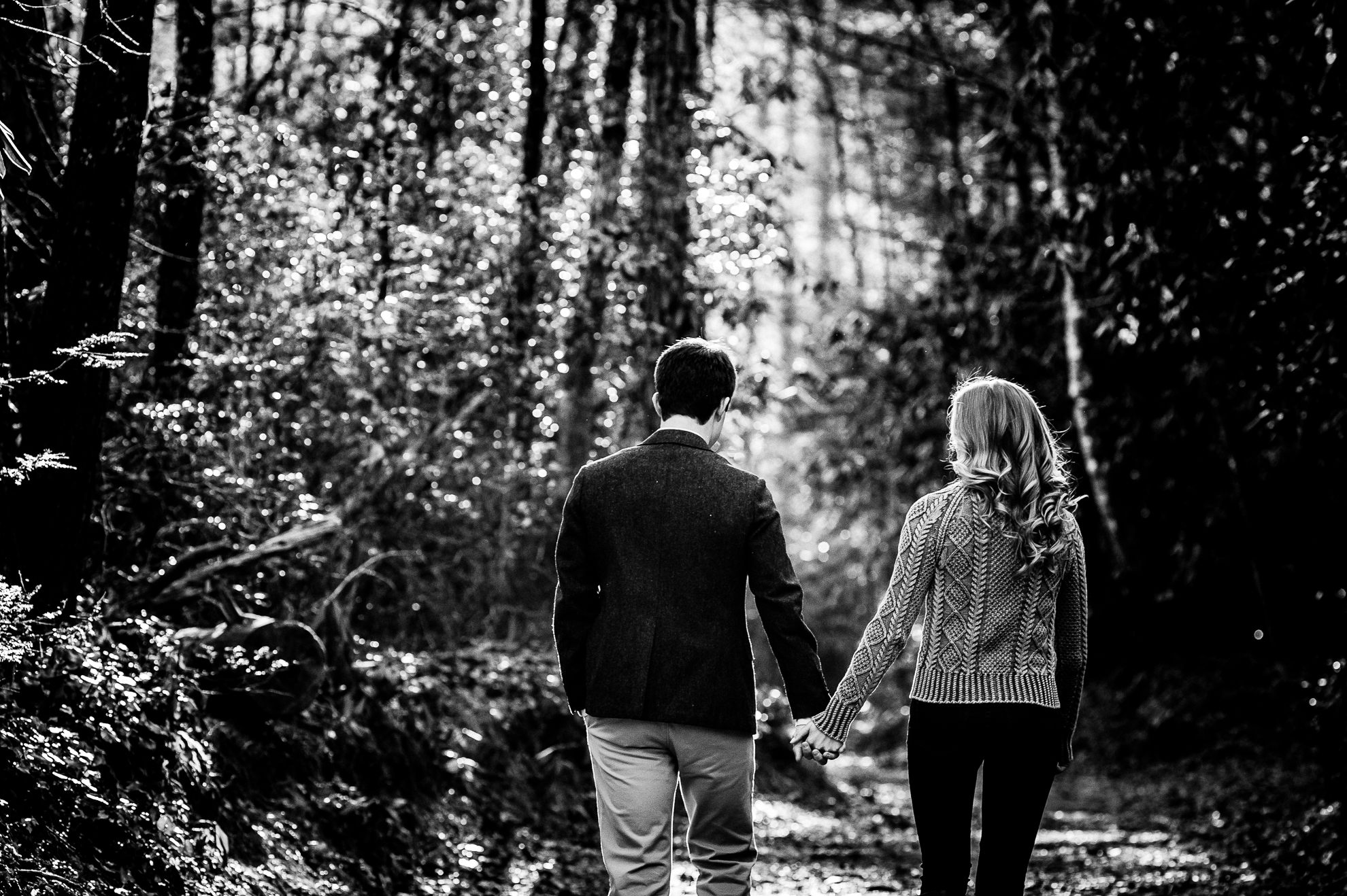 Dupont State Forest adventure engagement photo