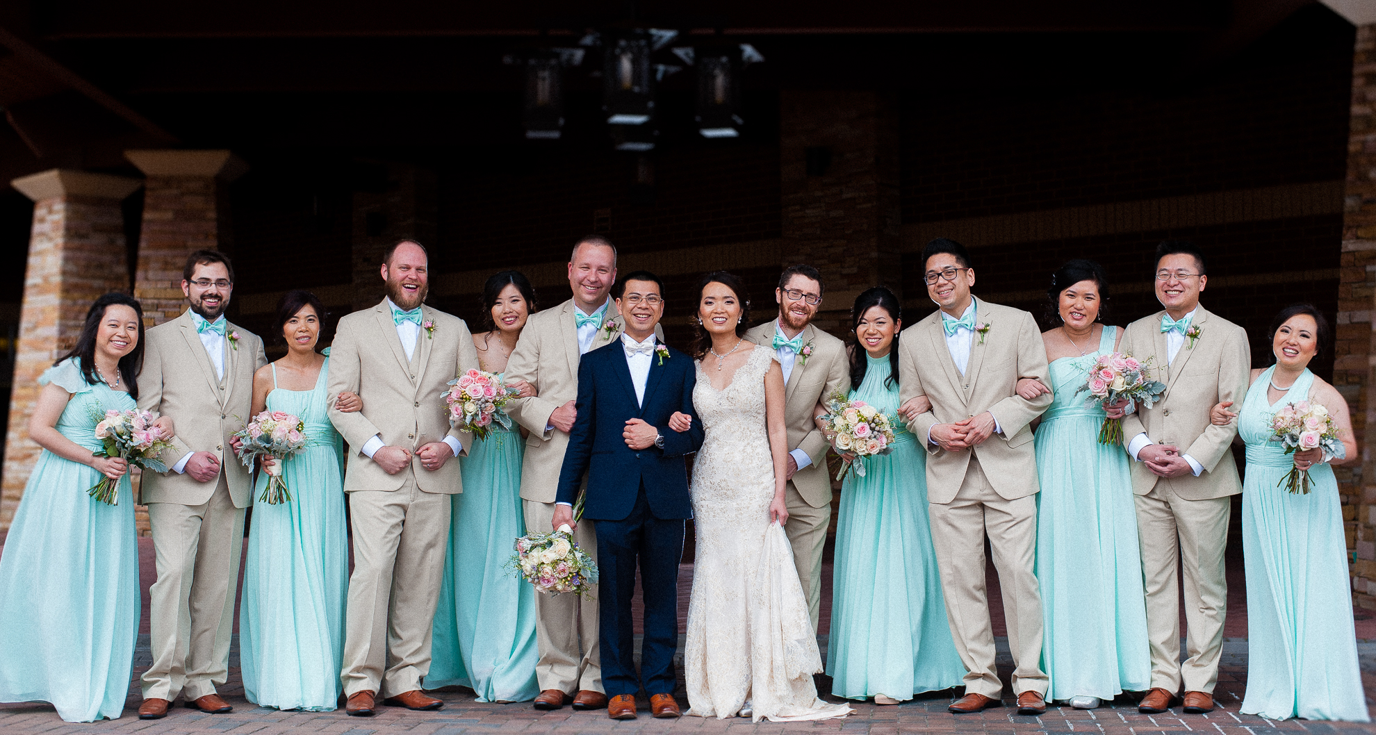 meadowview resort wedding party picture