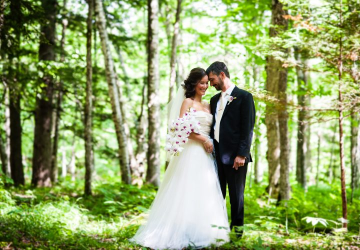 asheville wedding photo in the woods