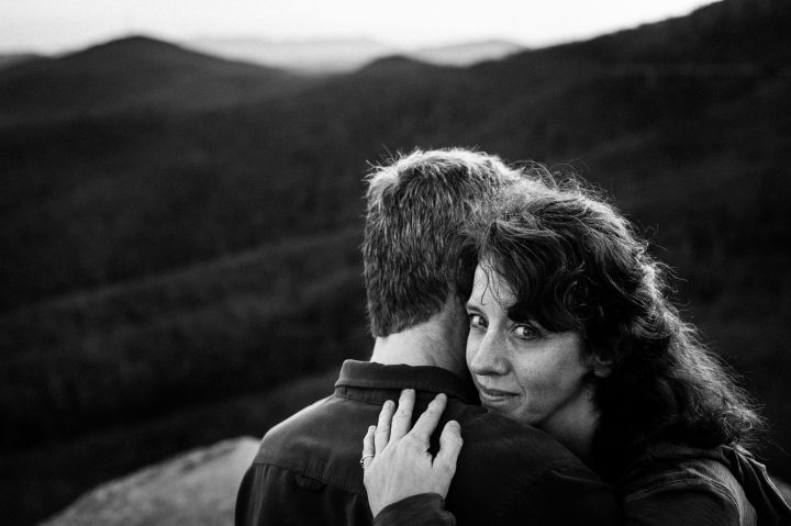 rough ridge engagement session by asheville photographer