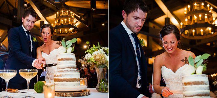 cake cutting at the old edwards inn wedding