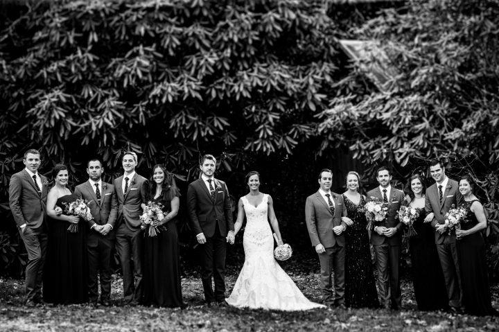 wedding party celebrates at the old edwards inn