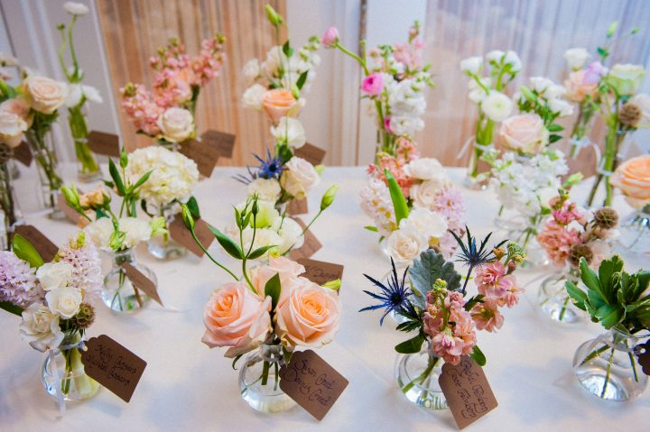 beautiful flower seating arrangement for asheville wedding