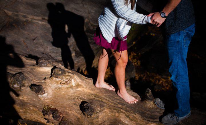 asheville adventure engagement photographer