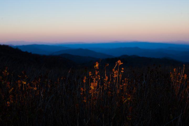 sunset on black balsam
