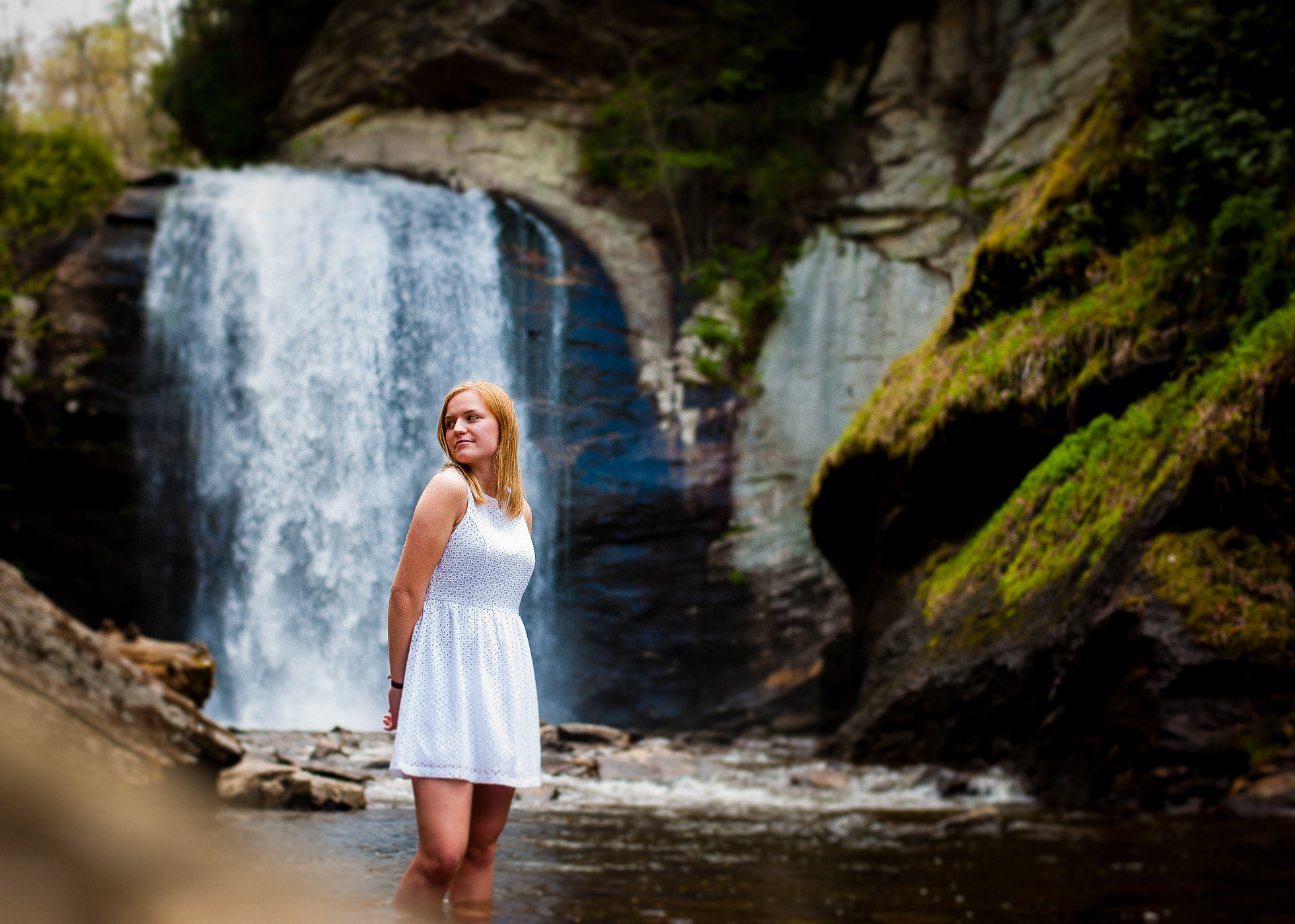 waterfall senior session