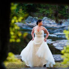 bridal portrait at brown mountain beach resort