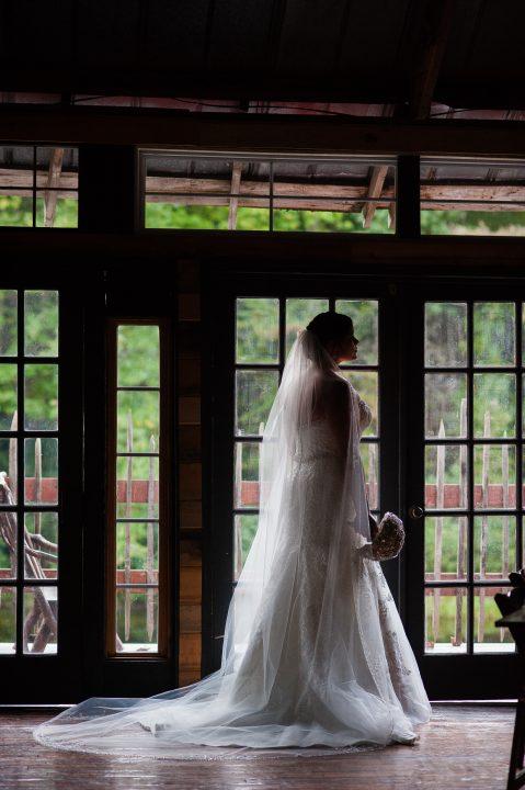bridal portraits at brown mountain beach resort
