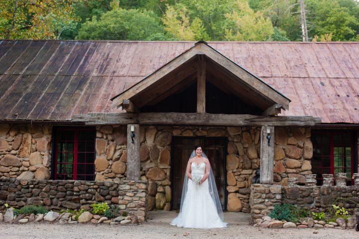 bride at brown mountain beach resort