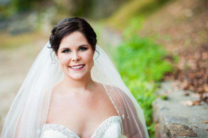 beautiful adventurous bride at brown mountain beach resort