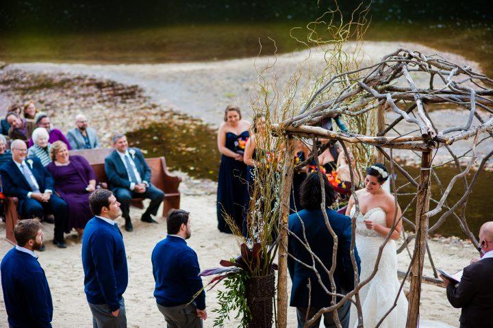 wedding ceremony at brown mountain beach resort