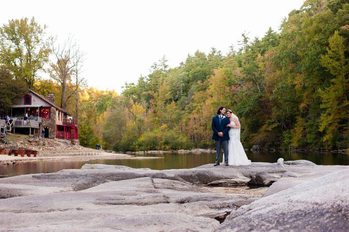 adventurous wedding portraits at brown mountain beach resort