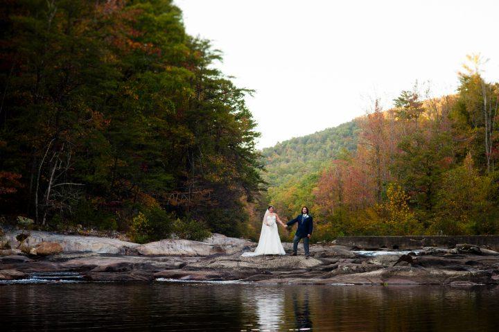 a fall wedding at brown mountain beach resort