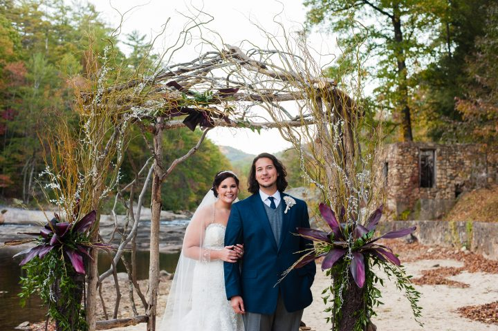 a wedding near linville gorge at brown mountain beach resort