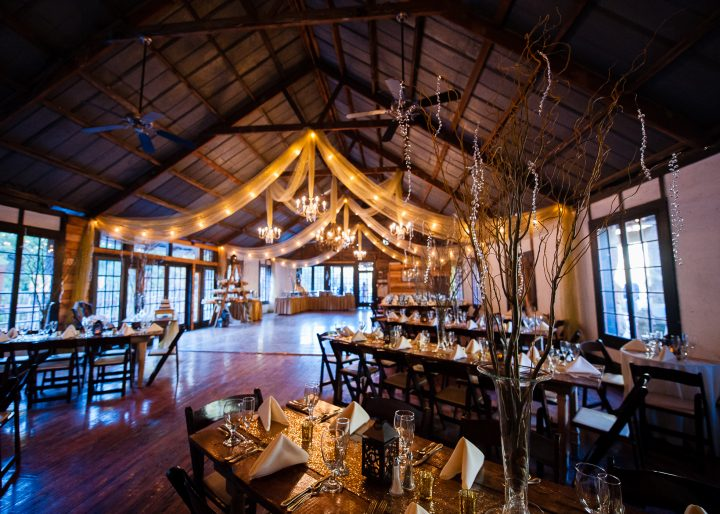 wedding reception lodge at brown mountain beach