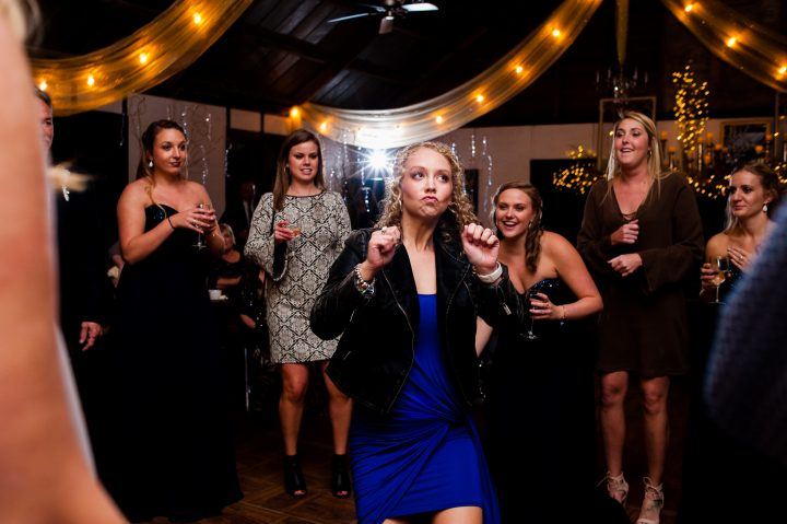 getting down on the dance floor at Brown Mountain Beach Resort