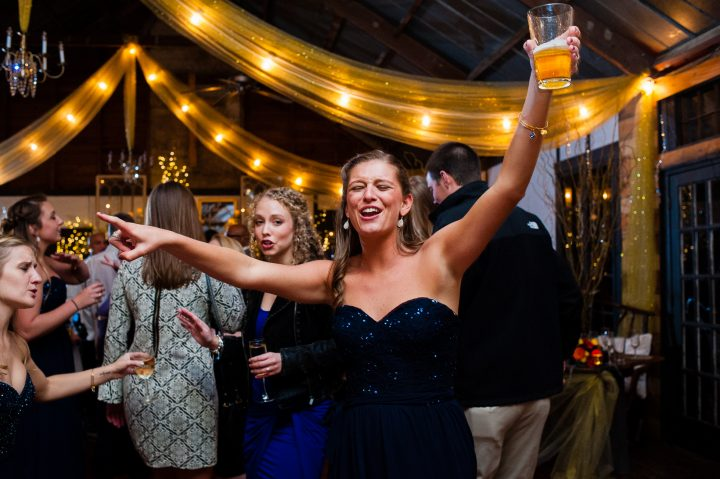 brown mountain beach resort wedding guests on the dance floor