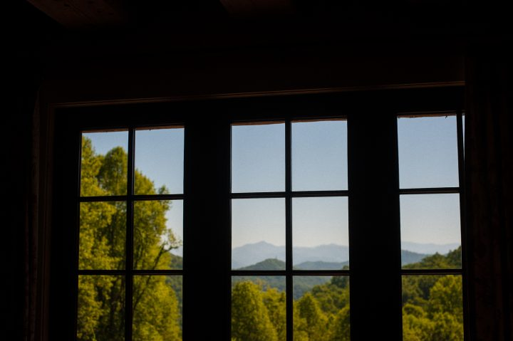 The view from inside the lodge at the Vineyards at Betty's Creek