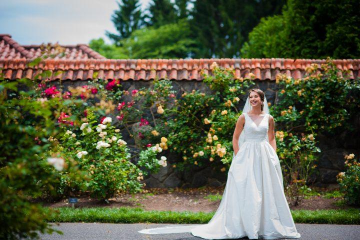 biltmore conservatory bridal session