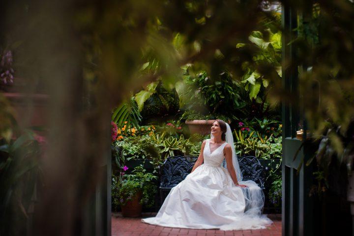biltmore estate conservatory asheville bride