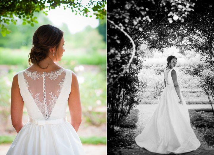 rose garden at the biltmore estate bridal portraits
