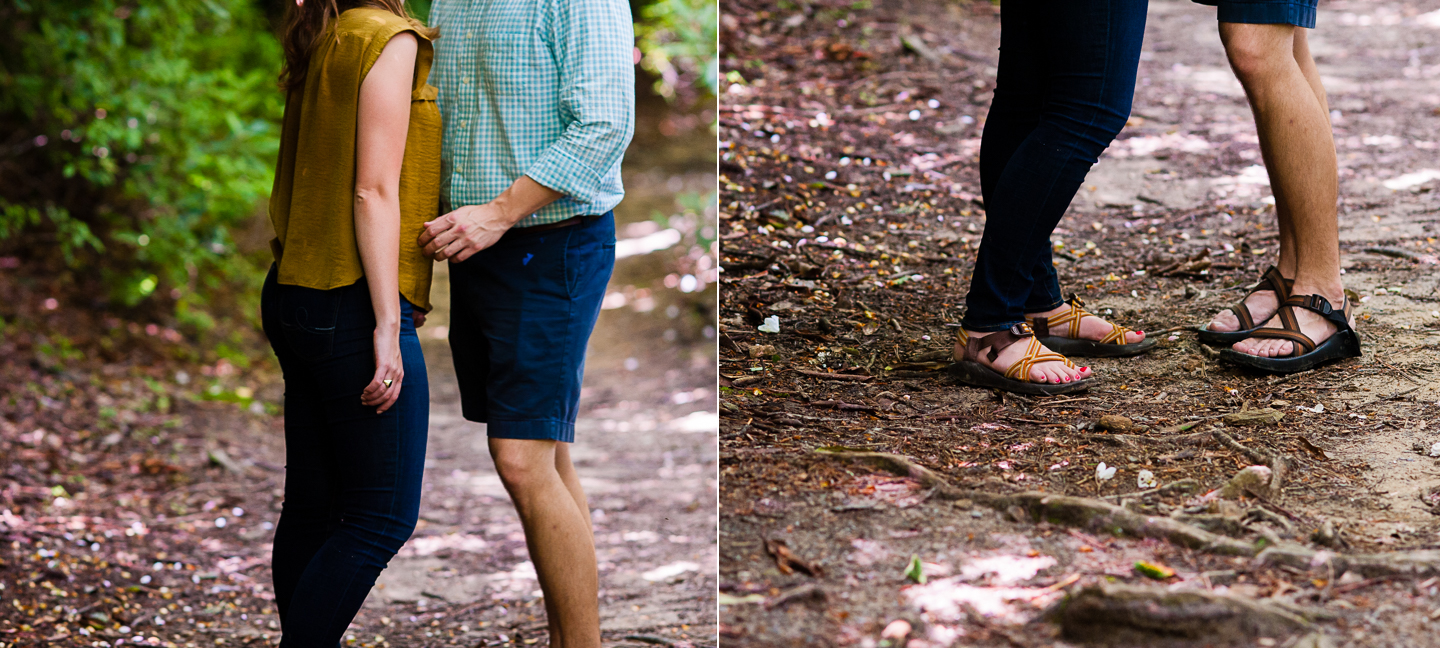 adventure engagement session in the mountains