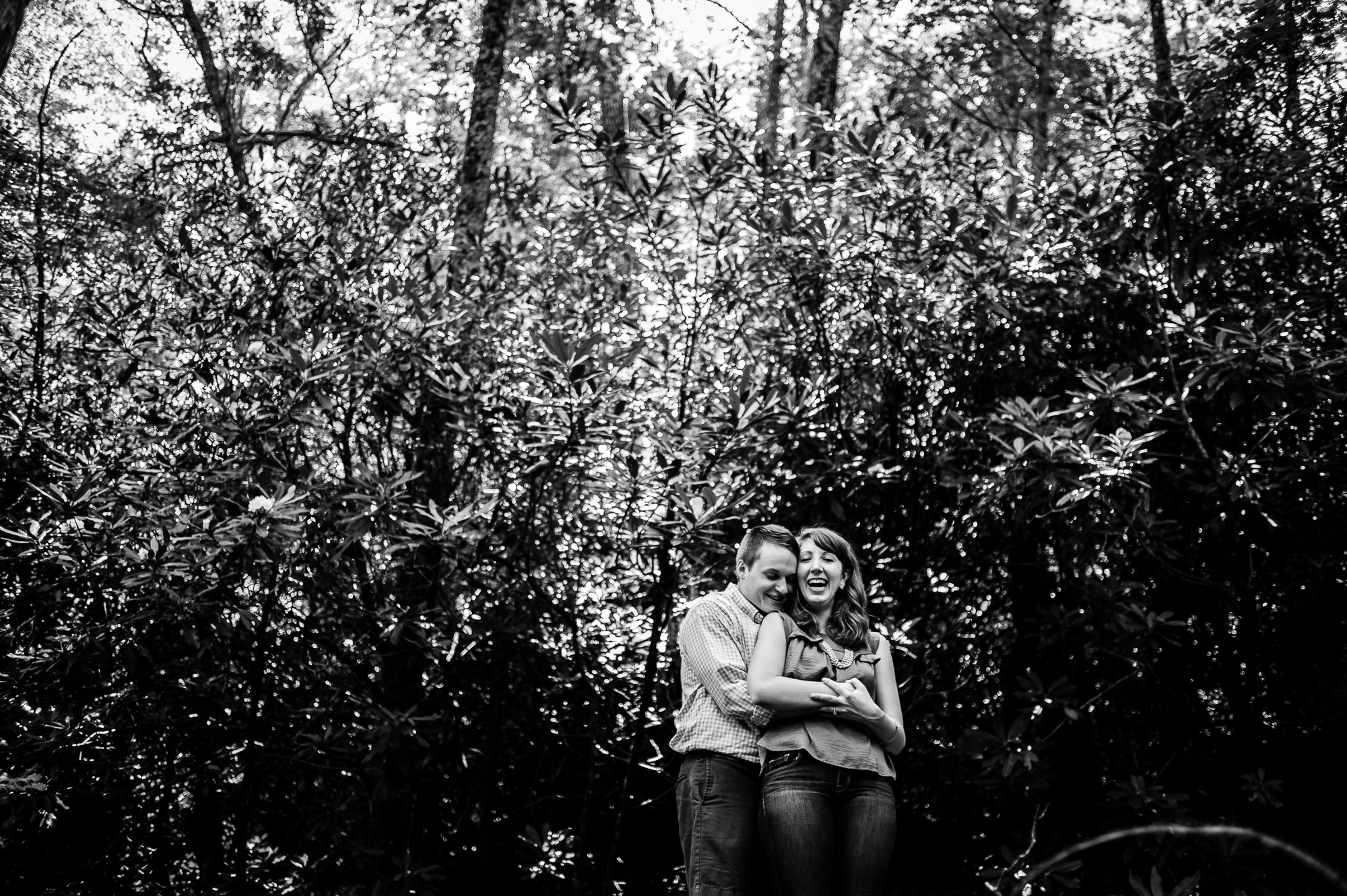 asheville engagement session in the mountains