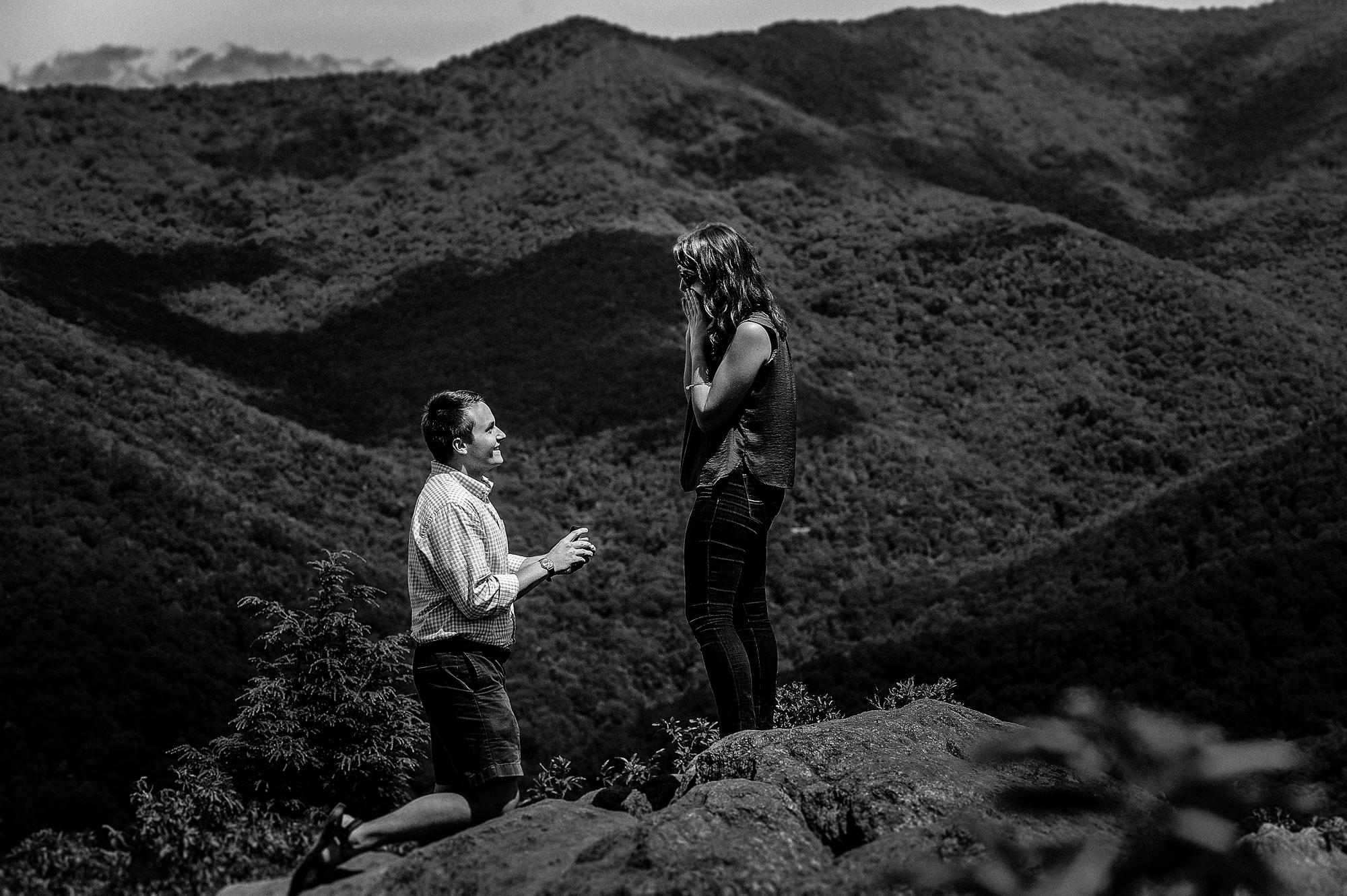 mountaintop engagement proposal