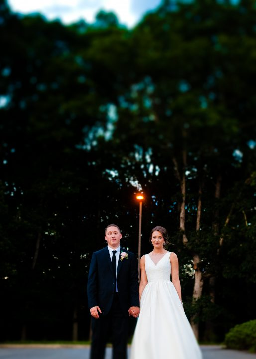 couple holding hands during their biltmore estate wedding