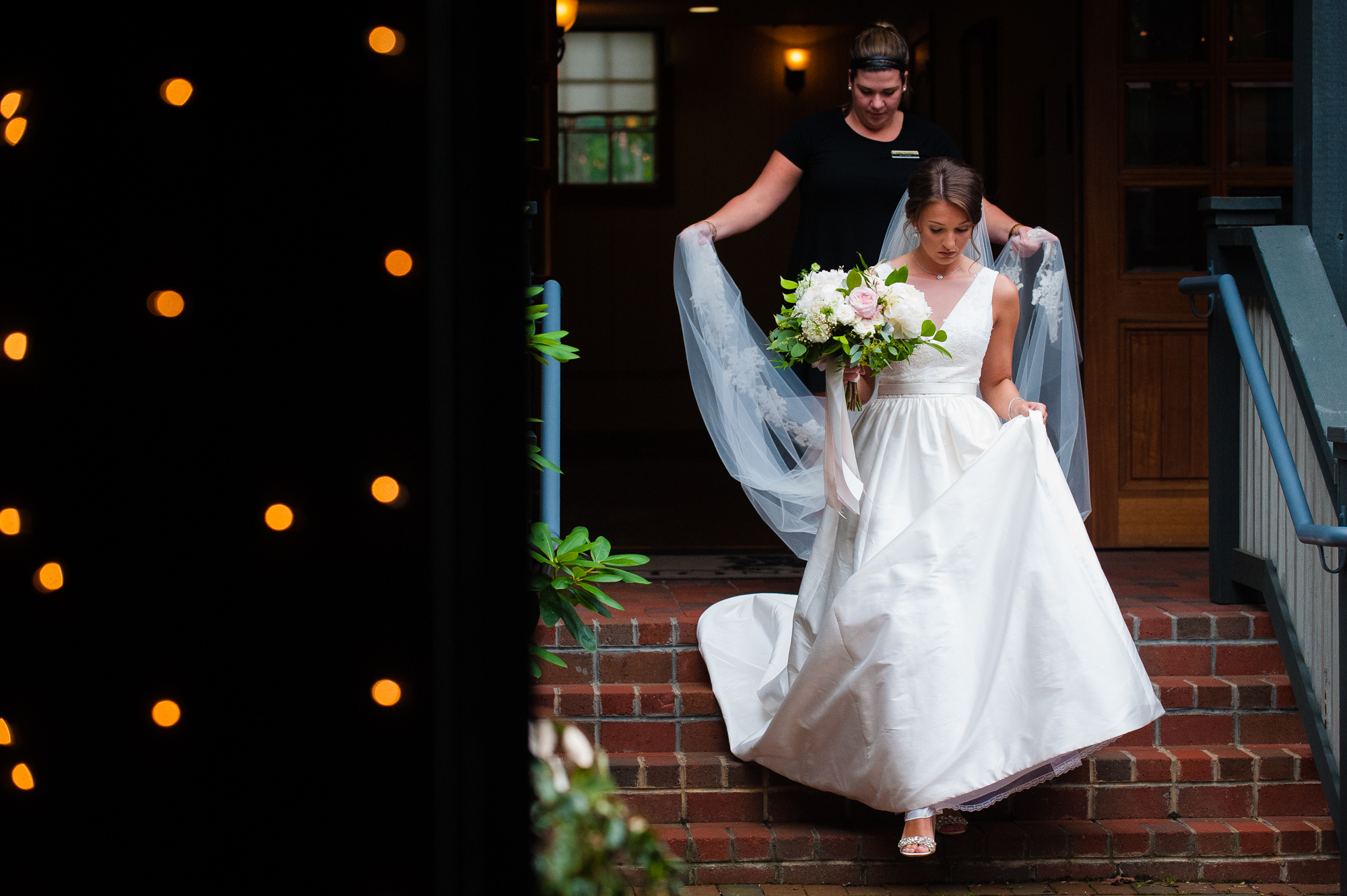bride walks to ceremony